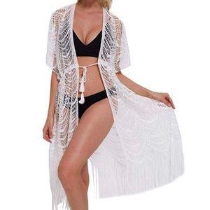 Beautiful White lace swim coverup nwt